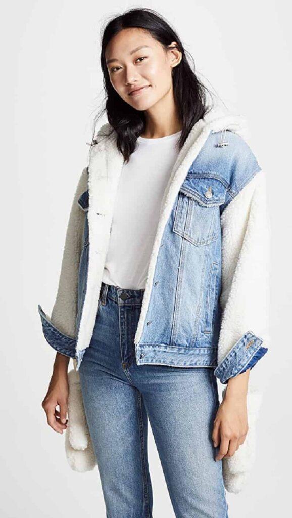 phối với áo thun và quần jean