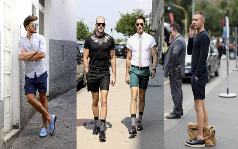 mặc quần short mang giày gì đẹp