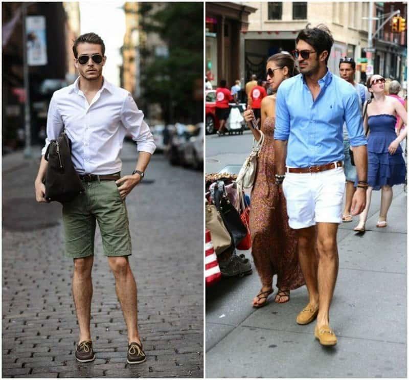 mặc quần short kaki mang giày gì