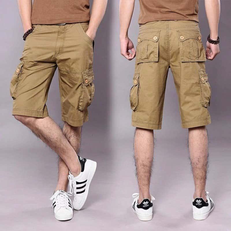 cách chọn giày phối với quần short túi hộp