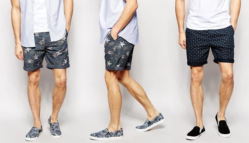 quần short họa tiết mang giày gì đẹp