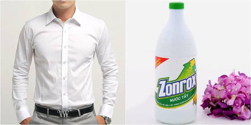 Hạn chế sử dụng chất tẩy rửa trực tiếp lên áo trắng