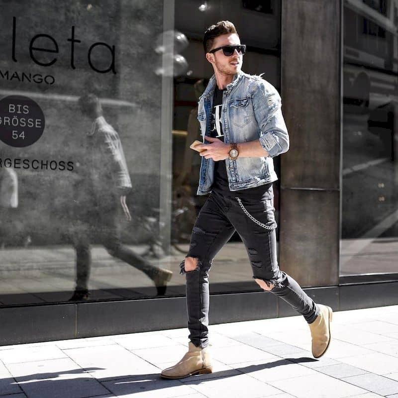 quần jean rách là items không thể thiếu trong street style