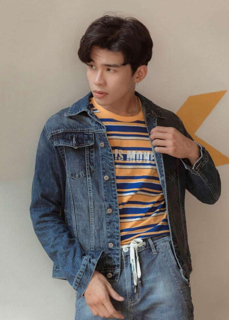 Mẫu áo khoác Jean xanh Basic (Blue Basic Denim Jacket) – AK 8012