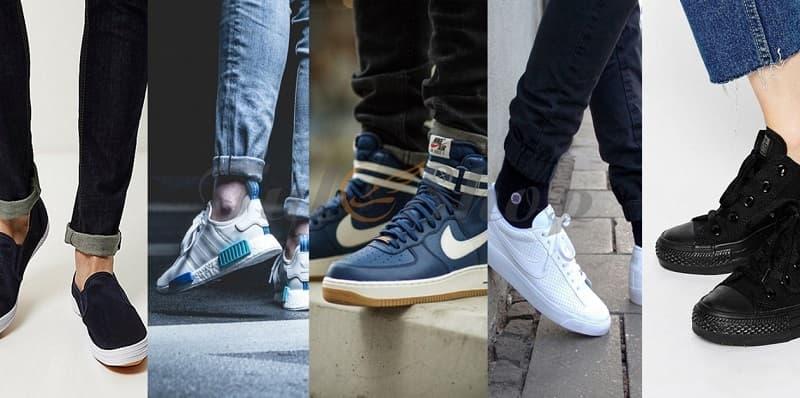 cách phối đồ với giày sneaker nam