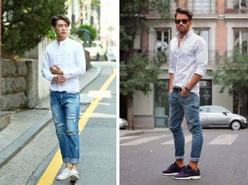 Những mẫu giày phù hợp phối cùng quần Jeans với sơ mi trắng