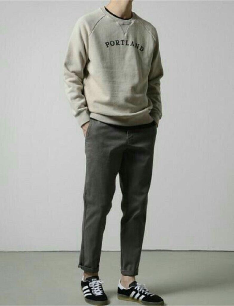 phối với áo sweatshirt
