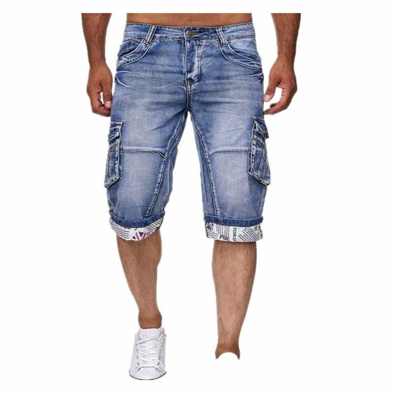 Quần Short Jeans nam túi hộp