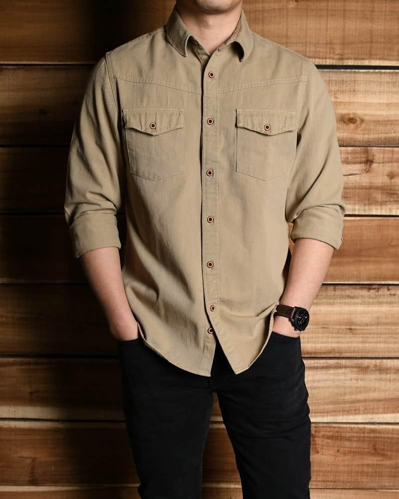 Vải Kaki là một loại vải may áo sơ mi nam cực đẹp