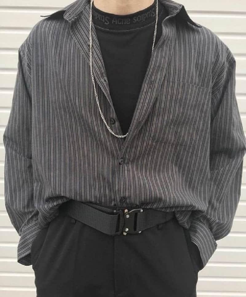 phối đồ với áo sơ mi nam khoác ngoài