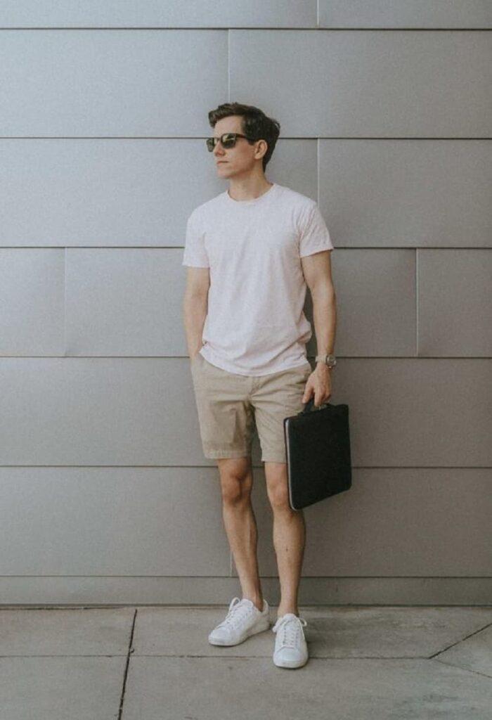 nam gầy thấp nên chọn quần short trên gối