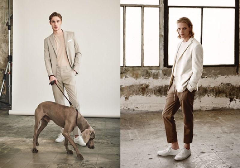 Phối Suit có tông màu sáng với áo thun tông Pastel sáng