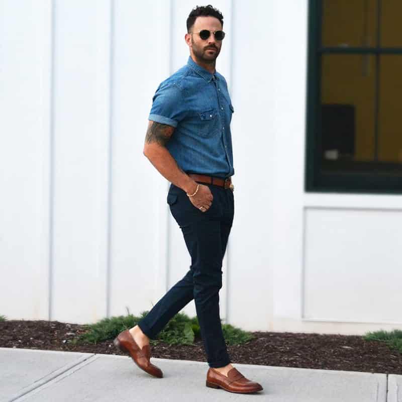 Một vài lưu ý nhỏ trong cách phối giày với quần jean nam